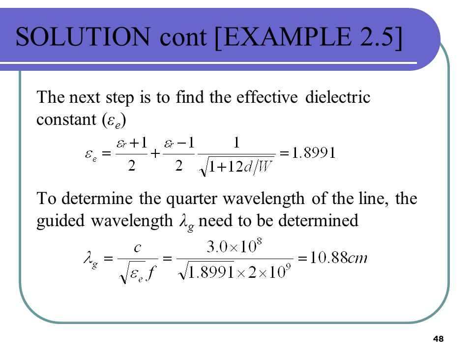 SOLUTION cont [EXAMPLE 2.5]